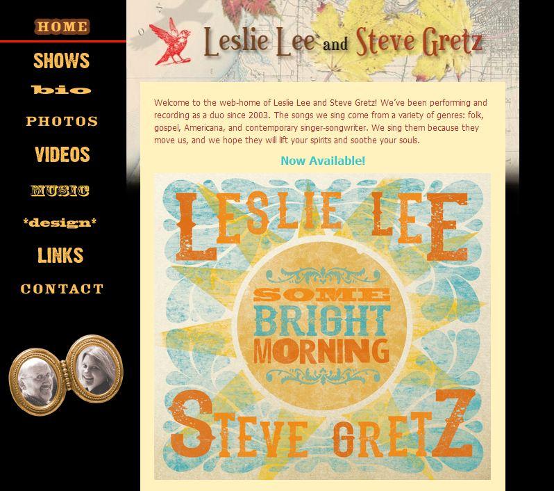 Leslie Lee & Steve Gretz