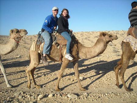 Jared rides a camel