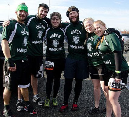 Click for more photos. Jared with his buddies prepare to run the Tough Mudder.