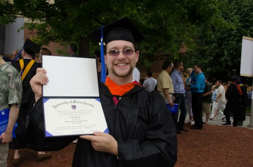 Jared shows that he really did get a diploma.