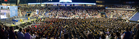 View panorama of the entire Tsongas Center