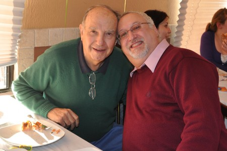 Dad and I together at his 80th birthday party in 2009.