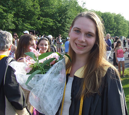 Lauren graduates from Amity High School