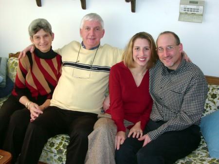 Leslie, Richard, Amy and David, Thanksgiving 2002