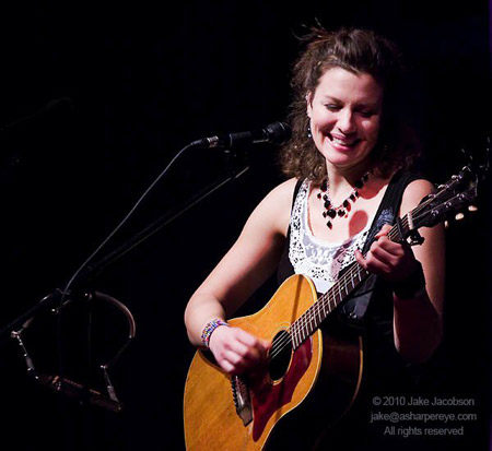 Antje Duvekot at the Circle of Friends Coffeehouse  ~ Photo © Copyright 2010 Jake Jacobson
