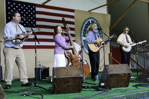 Southern Rail performs at the Podunk Bluegrass Festival, August 2010. Photo by Stephen Ide