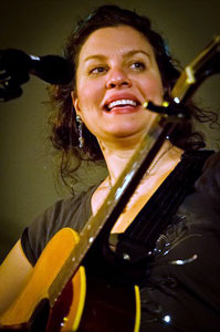 Antje Duvekot performs at Mansfield's Rose Garden Coffeehouse on Jan. 21, 2012. Photo by Stephen Ide.