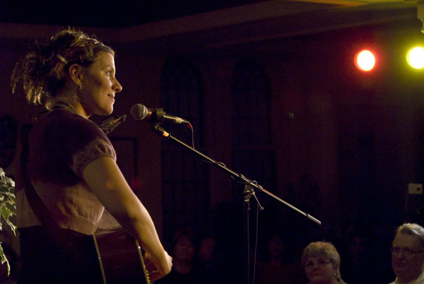 Antje Duvekot performs at the Rose Garden Coffeehouse. Photo by Stephen Ide.