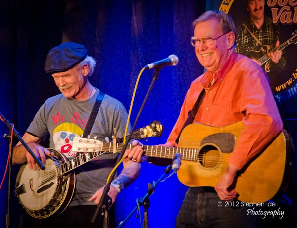 Bill Keith & Jim Rooney perform at the 2012 Joe Val Bluegrass Festival. Photo by Stephen Ide