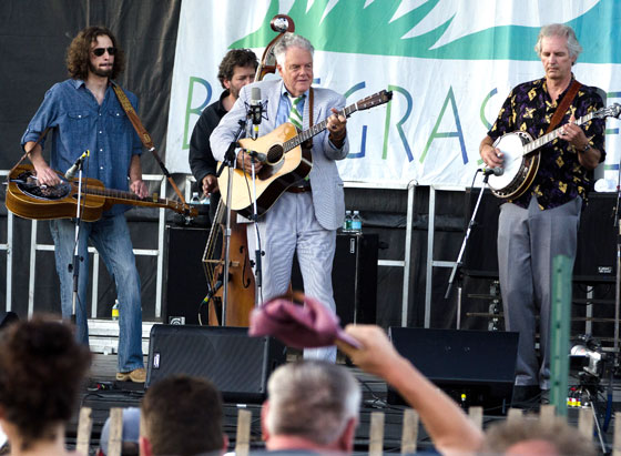 Peter Rowan performs with his bluegrass band at the 2011 Grey Fox Bluegrass Festival. Photo by Stephen Ide