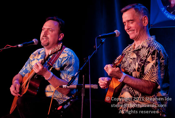 Moondi Klein, left, and Jimmy Gaudreau perform at the 2011 Joe Val Bluegrass Festival. Photo by Stephen Ide
