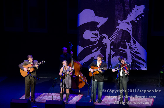 Sierra Hull & Highway 111 perform at the 2011 IBMA Awards Ceremony in Nashville. Photo by Stephen Ide