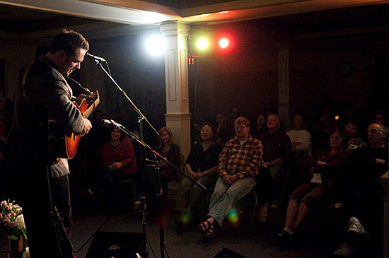 Mark Erelli performs at the Rose Garden Coffeehouse ~ Photo by Stephen Ide