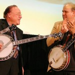 Earl Scruggs, left, with Pete Wernick