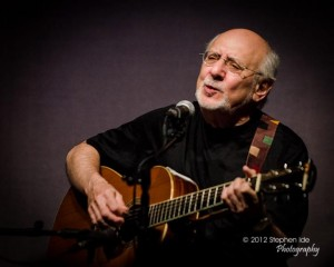 Peter Yarrow performs at the Circle of Friends Coffeehouse in Franklin, Mass. on saturday, April 14, 2012. Photo by Stephen Ide