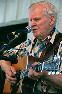Doc Watson at the Grey Fox Bluegrass Festival in July 2001 ~ Photo by Stephen Ide