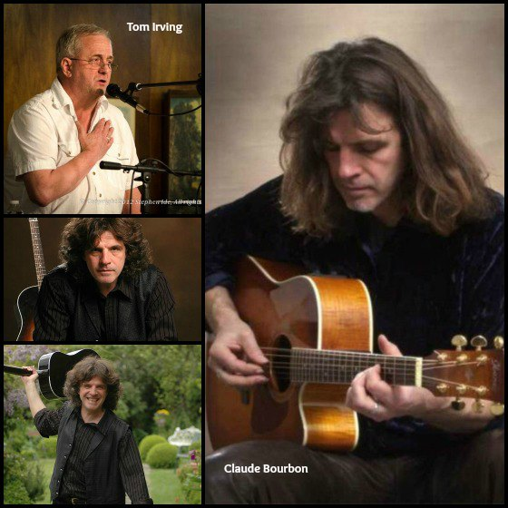 Claude Bourbon - Tom Irving collage ~ Irving photo by Stephen Ide