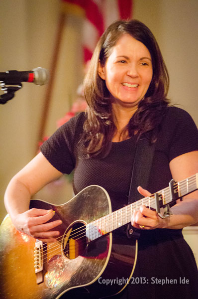Lori McKenna performs the Rose Garden Coffeehouse in Mansfield on March 16, 2013. Photo by Stephen Ide