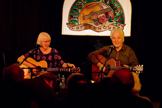 Cindy Mangsen & Steve Gillette ~ Photo by Stephen Ide