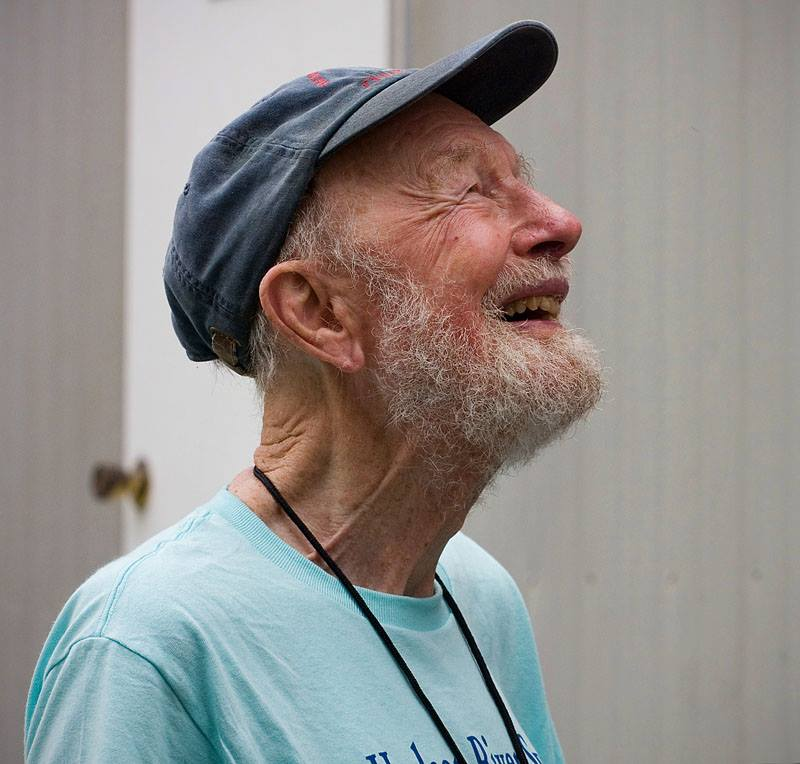 Pete Seeger at the Newport Folk Festival, 2009. Photo by Jake Jacobson, used with permission.