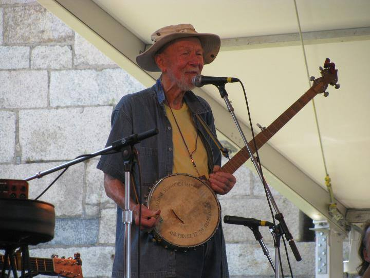 Pete Seeger at Newport, photo by Kathy Sands-Boehmer