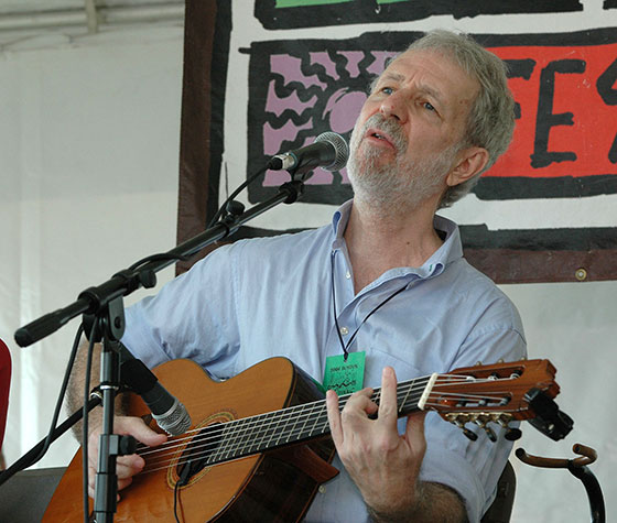 Jesse Winchester performs at the Boston Folk Festival in 2006. Photo © Copyright 2006 Stephen Ide
