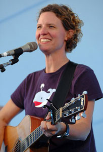 Catie Curtis performs at the New Bedford Summerfest in 2005. Photo by Stephen Ide