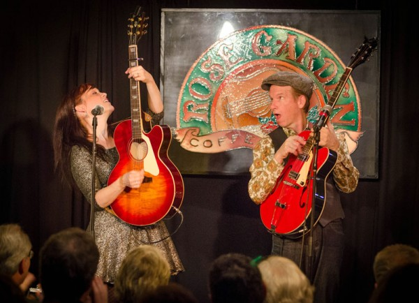 Maura & Pete Kennedy perform at the Rose Garden in 2013. Photo by Stephen Ide