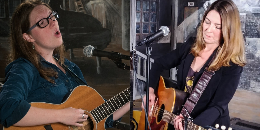 Grace Morrison, left, and Lisa Bastoni perform in the studio at Mansfield Cable Access TV in October 2018. The pair will perform at split bill at the Rose Garden Coffeehouse in Mansfield on Saturday, Oct. 20. Photos by Stephen Ide.