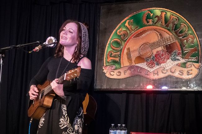 Kala Farnham performs at the Rose Garden Performing Songwriter Competition on Saturday, May 18, 2019. Photo by Stephen Ide
