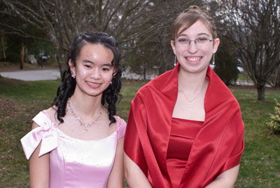 Judy and Rachel about to leave for the prom