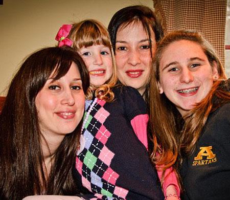Jamie, Samantha, Tara and Katelyn at Samantha's 5th birthday party. Click to see more photos.