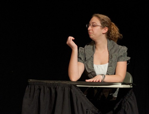 Rachel performs in The Playwright ~ Photo by Stephen Ide