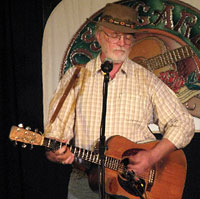 Bill Staines at the Rose Garden Coffeehouse in 2008 ~ Photo by John Cotter